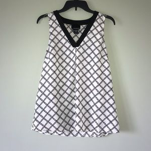 Cynthia Rowley Black and White Tank Top